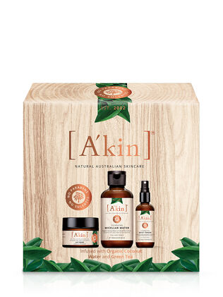 A'kin Organic Coconut Water & Green Tea Christmas Gift Set