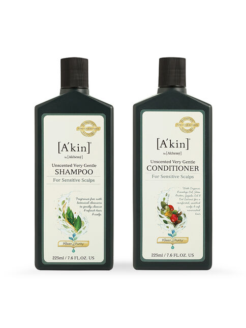 Duo 225mL Mild & Gentle Fragrance Free Shampoo & Conditioner
