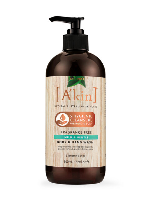 Fragrance Free - Mild & Gentle Body & Hand Wash 500ML