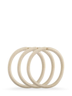 Blonde Snagless Thick Elastics - Pk10