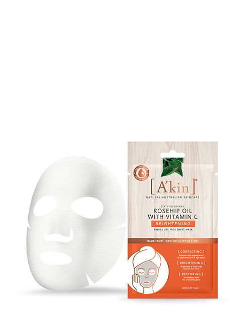 Rosehip Oil with Vitamin C Brightening Face Sheet Mask 1 pack