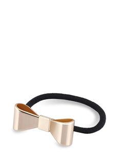 Gold Metal Ponytail Bow