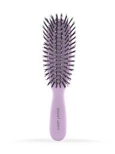 Pastel Purple Smooth & Knotless Detangling Brush - Purse-Sized