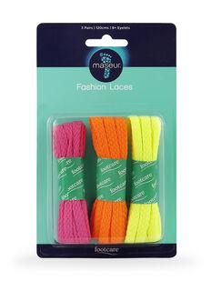 Fashion Laces 120cm, 3 pairs
