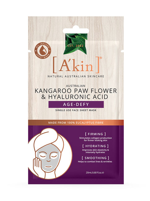 Kangaroo Paw Flower and Hyaluronic Acid Age-Defy Face Sheet Mask 1 pack