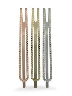 Large Metallic Double Bar Slides - Pk 3