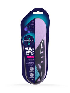 Women's Heel and Arch Support Insoles, 1 pair