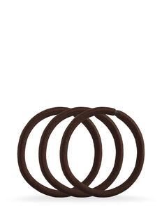 Brown Snagless Thick Elastics - Pk10