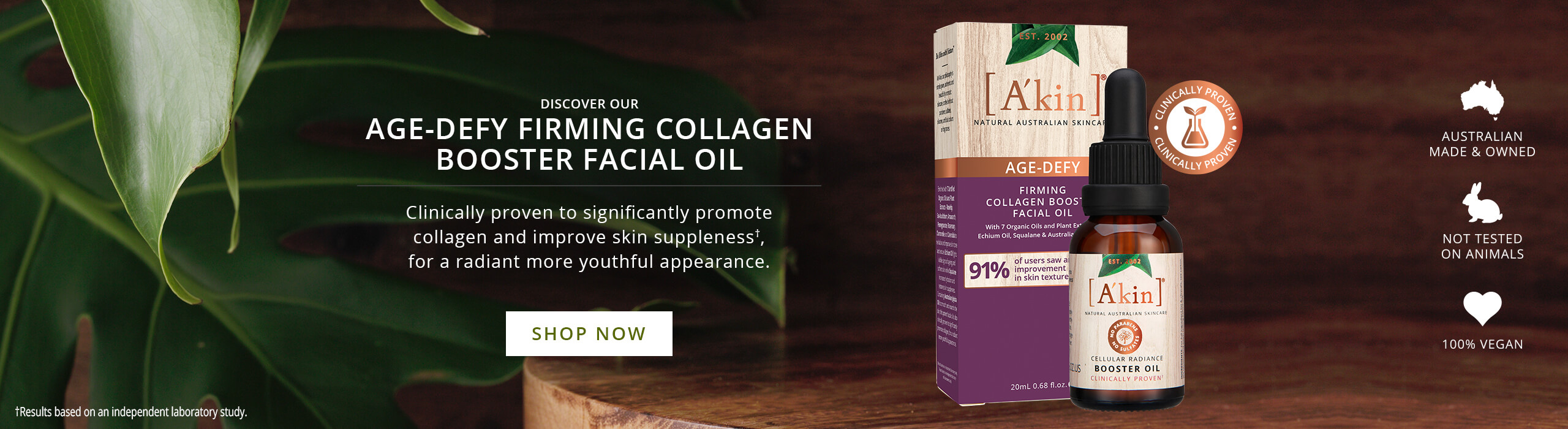 Shop A'kin Age-Defy Firming Collagen Booster Facial Oil